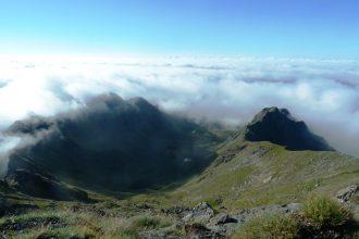 Blick vom Berggipfel des Zechnerkar